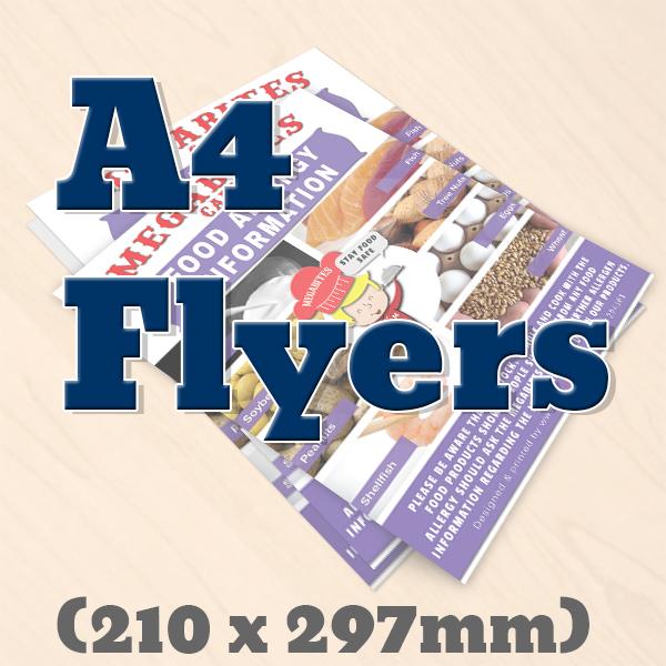 A4 Flyers, leaflets