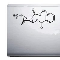 Cocaine Molecule – Car Van Laptop decal sticker