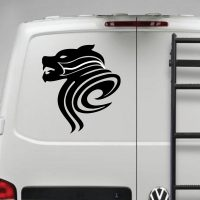 Growling wolf – Funny Car Van Laptop decal sticker