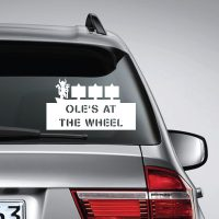 Ole's at the wheel Manchester united – Car Van Laptop decal sticker